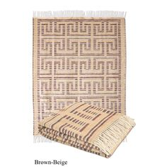 Affinity Home Collection Wool Jacquard Design Throw with Fringe
