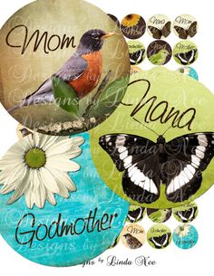 Instant Download  A Mother's Love 1 inch by DesignsbyLindaNee, $3.95