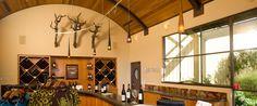 Tasting Room @Quivira has a ceiling that resembles a barrel...