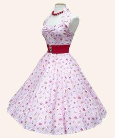 1950s Halterneck Retro Fabric Dress from Vivien of Holloway   1950s Dresses from Vivien of Holloway