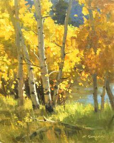 Watercolor Landscape, Abstract Landscape, Landscape Paintings, Watercolor Art, Landscapes, Autumn Painting, Autumn Art, Paintings I Love, Fall Paintings