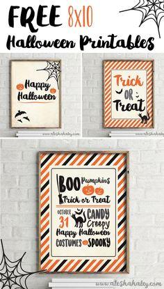 Free Halloween Printables // Alesha Haley Blog #halloween #printables