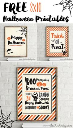 Free Halloween Printables // Alesha Haley Blog #halloween #printables