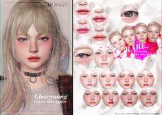 mudskin chaeyoung Sims 4 Body Mods, Sims 3 Mods, Sims 4 Mods Clothes, Sims 4 Cc Eyes, Sims 4 Mm, My Sims, Sims 4 Asian Makeup, Sims 4 Children, Kids