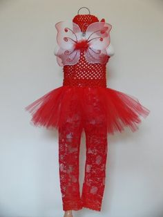 Baby Butterfly Fairy (Red - 6 To 12 Mo) Dress-Up / Halloween Costume by Costume Living. $29.95. She'll be the cutest baby in this butterfly fairy costume, which includes: a crochette tutu, crochette headband with flower, butterfly fairy wings, and lace leggings.