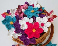 Crochet Wildflowers Free Pattern