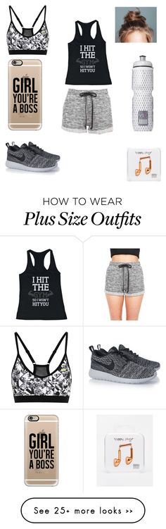"""Hit the gym"" by afsanaolomi on Polyvore featuring mode, NIKE, Happy Plugs, Casetify et Victoria's Secret"
