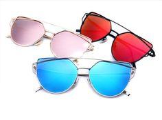 >> Click to Buy << N38 2016 Newest Brand Designer Cat Eye Mirror Sunglasses Women Twin-Beams Stylish Lady Flat Plane New UV400 Fashion Sun Glasses #Affiliate