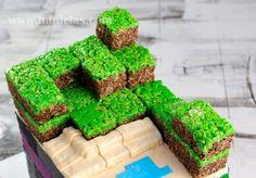 Minecraft Dirt Blocks Rice Krispies by Haniela's