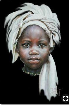 Dora Alis Mera V. Arte pintura retratos niños de áfrica decoración human Анна Д Black Girl Art, Black Women Art, Art Girl, Pencil Portrait, Portrait Art, Afrique Art, Black Art Pictures, Beautiful Pictures, Art Africain