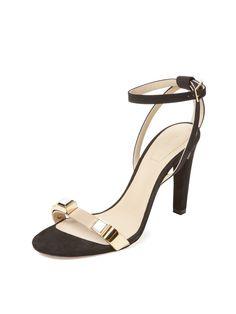 Metal Accent High Heel Sandal