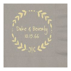 personalized napkins for anniversary party