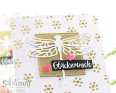 Geburtstagskarte mit Libelle von Stampin Up!