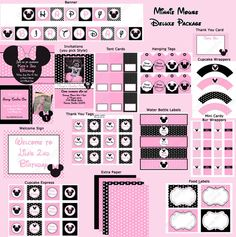 Minnie Mouse Light Printable Pink Deluxe Package