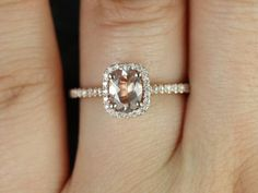 NEW Romani 14kt Rose Gold Cushion Halo Oregon SunStone and Diamond Engagement Ring (Other Center Stone Available Upon Request)