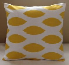 CHRISTMAS SALE   TWO 16 x 16 Pillow Covers Chipper Corn Yellow. $20.00, via Etsy.