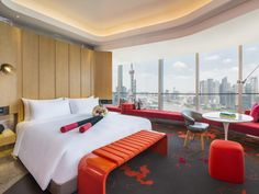 Book your stay at W Shanghai - The Bund. Our Shanghai trendy hotel offers contemporary accommodations & lively experiences. The Bund, Outdoor Furniture, Outdoor Decor, Hotel Offers, Shanghai, Sun Lounger, Flooring, Contemporary, Luxury