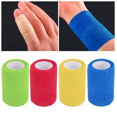 Self-Adhering Bandage Wraps Elastic Adhesive First Aid Tape4.5m x 7.5cm Fashion Women Men Gym Bodybuild Workout Fitness Support