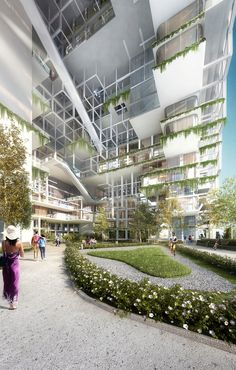 Architensions Shortlisted for Civic Center Design Using Local Vegetation in Sydney, Australia,Courtesy of Architensions