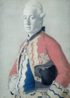 Portrait of Archduke Maximilian Franz of Austria, later Archbishop-Elector of Cologne. Pastel on paper, by Jean-Etienne Liotard, 1778, Rijksmuseum