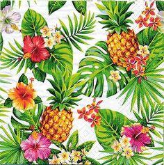 4ti-flairパイナップルモンステラハイビスカスペーパーナプキン紙ナフキンランチ10枚ハワイアン