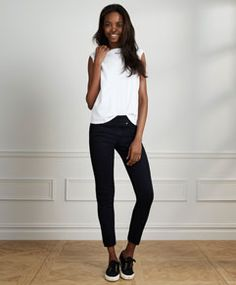 Slim Fit Tee and Perfectly Slimming Pull on Legging - Levi's - levi.com #PinToWinYourFallFashionFavesContest
