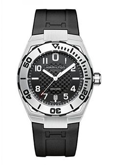 HAMILTON L KHAKI NAVY SUB AUTOMATIC BLACK RUBBER BAND MENS WATCH H78615335 >>> You can find more details by visiting the image link.