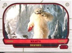 Star Wars Galactic Files Red Parallel #310 Wampa in Collectables, Trading Cards…