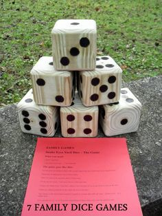 Yard dice, yard games и backyard games. Dice Games, Fun Games, Games For Kids, Outdoor Projects, Wood Projects, Woodworking Projects, Yard Dice, Wood Crafts, Diy Crafts