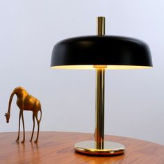 Mushroom desk lamp from the sixties by Egon Hillebrand for Hillebrand