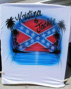 69 best airbrush fun images on pinterest airbrush shirts airbrush rebel flag southern beach palm trees airbrush shirt free name 2299 via etsy solutioingenieria Gallery