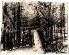 Зима. 2012. папір, вуголь.  С. Ковика-Алієв
