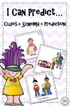 Practice the reading strategy of Making Predictions with 'think-aloud' pictures. $