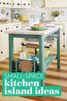 Small Kitchen Layouts, Small Space Kitchen, Narrow Kitchen, Small Spaces, Small Small, Cuisines Diy, Cuisines Design, Küchen Design, Home Design