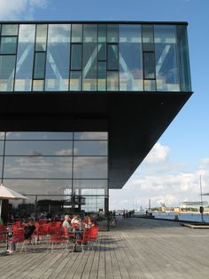 Copenhagen, Denmark.  There is a great view of the opera house from here.  This building is new but I cannot remember what it was.