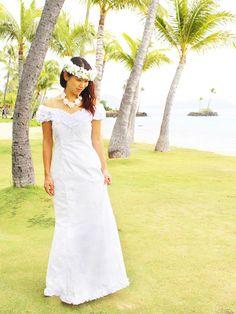 dad47a90aaa 10 Best Hawaiian Wedding Dresses images in 2018 | Hawaiian wedding ...