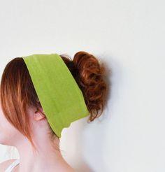 Pistachio Green Yellow Green Elastic Stretch by designscope, $10.00
