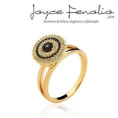 Acesse: www.joycefenolio.com.br  Lindíssimo Anel com Micro Zirconias Cristal e Black ❤ - ✅Pedidos via direct ou WhatsApp 19 984289457 ✅Entregas para todo o Brasil ! #semijoias #joycefenoliojoias #luxo #tendencia #tops #elegant #modafeminina #stylish #boanoite
