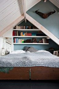 attic space bed idea