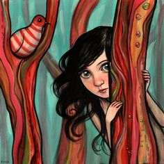 Whimsical Paintings by Kelly Vivanco