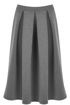 Cinching in at the waist and featuring a heavy pleat, our textured Ponte Midi Skirt brings is a modern update on the classic A-line silhouette. Balance the pleat by teaming with a fine kit and ankle boots.