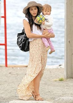 Mommy and me! Jenna Dewan-Tatum and her 14-month-old daughter Everly hit the beach wearing matching floral prints in Vancouver on Tuesday