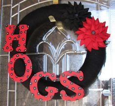 Arkansas Razorback Wreath I like the letters on this one
