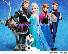 Funny frozen image happy new year cartoon 2015