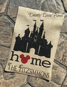 Disney Garden Flag with Family Name Personalized by DaintyDivaBows