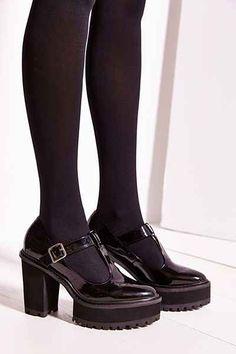 Shellys London Platform T-Strap Heel - Urban Outfitters