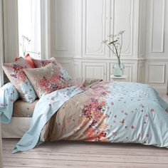 Zadii Two-Tone Printed Percale Duvet Cover