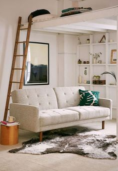 Berwick Mid-Century Sleeper Sofa from Urban Outfitters. Saved to Home Decorateness. Furniture, Small Sofa, Room, Home, Sofa, Mid Century Sleeper Sofa, Room Decor, Mid Century Sofa, New Room