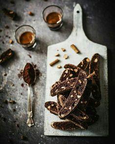 Light chocolate biscotti.