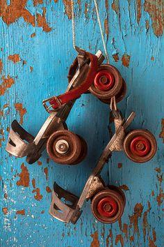 Roller Skates I had the key skates and many skinned up knees! - rockin rebel roller girl - retro - vintage